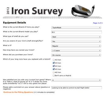Golf Customer Survey Marketing