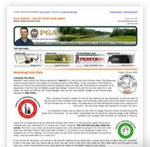 Golf Newsletter Marketing