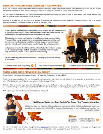 Fitness Information Marketing