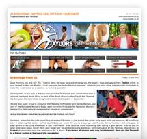 Fitness Newsletter Marketing