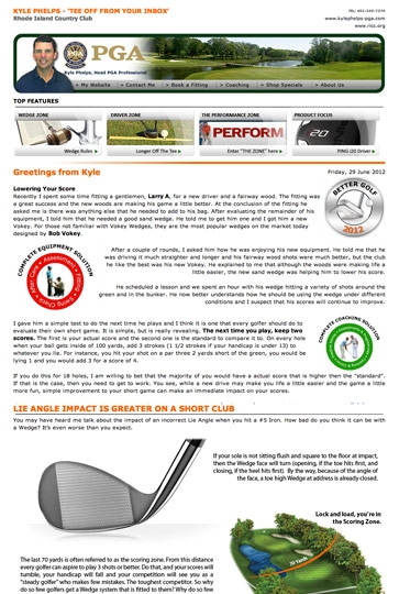 Golf Email Marketing